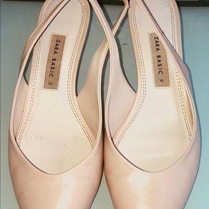 Zara leather slingback heels